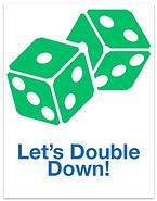 Double Down Icon Sqaure